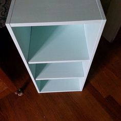 First bookcase done and waxed. Now on to the next one.  #diychalkpaint #ikea  #bedroomreno