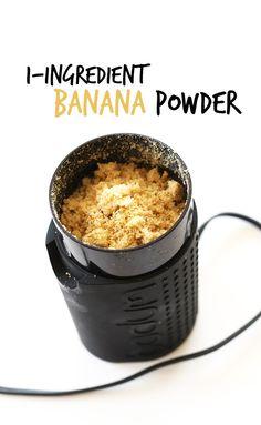 1-ingredient Banana Powder
