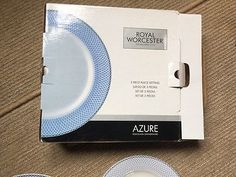 Royal Worcester Azure 3 Piece Place Setting - New Boxed