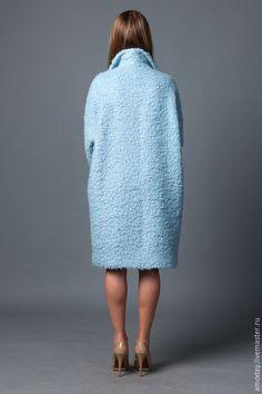 пальто из кашемира, мохера и шелка `SKY` вид сзади
