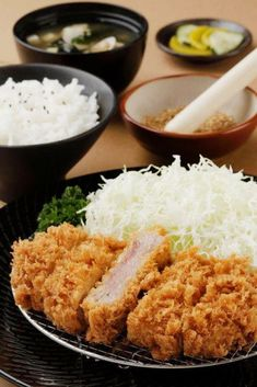 Tonkatsu, Japanese Crispy and Juicy Pork Cutlet. I like to serve my tonkatsu whole with steak knives, but you can cut them before plating if you prefer. Drain the cabbage and and serve alongside the...