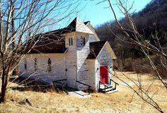 Little abandoned church along VA's backroads