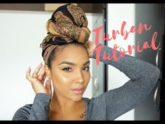 The EASIEST Headwrap/Turban Tutorial! [Video]  Read the article here - http://www.blackhairinformation.com/video-gallery/easiest-headwrapturban-tutorial-video/