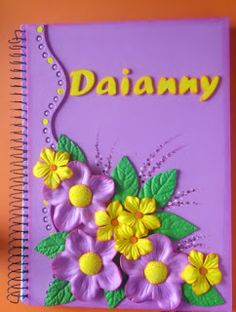 Discover thousands of images about caderno decorado em e. Foam Crafts, Diy And Crafts, Arts And Crafts, Paper Crafts, Quilting Projects, Sewing Projects, Projects To Try, Attendance Chart, Diary Decoration