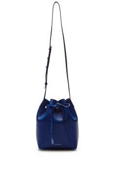 Shop Mini Bucket Bag In Royal with Royal Interior by Mansur Gavriel for Preorder on Moda Operandi