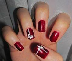 nageldesign muster rote nägel fingernägel design
