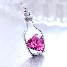 'LOVE DRIFT BOTTLE' PENDANT (Rose)