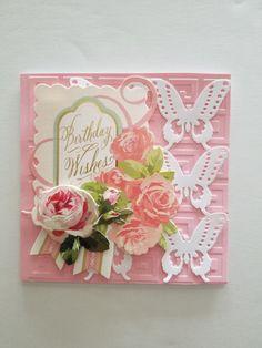 Handmade Birthday Card  55 x 55 Anna Griffin