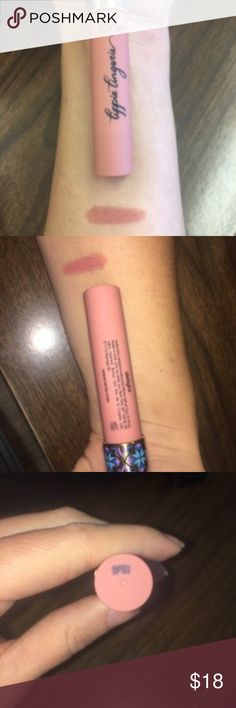 """Tarte """"Delight"""" Lippie Lingerie Lipstick Coats lips with a full-coverage, matte formula & a silky-smooth texture that feels like you're slipping into something comfortable. """"Delight"""" is a pink nude color. Never used only swatched on arm. tarte Makeup Lipstick"""