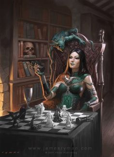 She'd probably beat the crap out of me, but I would love to play chess with her! Her chess game looks awesome.
