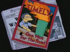 The knockoff's of Flaming Moe's that spring up overnight include Flaming Meaux, Flaming Moe's pushcart, and Famous Moe's.