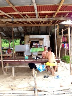 Rustic shacks in Bias Tugal Beach provide coconut water and instant noodle, or perhaps a massage.