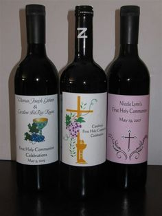 Personalized Wine Labels. Perfect for First Communions, graduations, adult birthday parties and so much more!