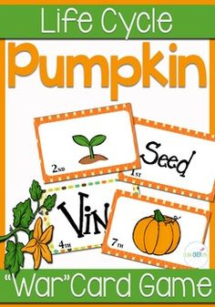 Practice sequencing and learn the life cycle of pumpkins with a unique ...