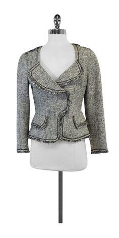 Yoana Baraschi Black & White Tweed Jacket