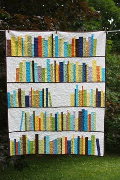 Book quilt to curl up on while reading - @Donna Marie - This screams right up your alley!!