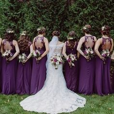 Bari Jay x The Knot. Photogaphy by Moreau & Company. Style #1653 & Style #EN-1610 in Eggplant