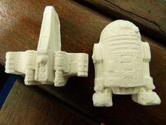 Mottoparty Mottokreide Motivkreide Themenkreide Raumschiffkreide R2D2 Kreide Ideal für Kindergeburtstag - Thema Raumschiff, Roboter, Star Wars