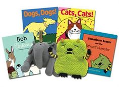 A great collection of books by author Michelle Nelson-Schmidt and 2 amazingly soft plushie characters.