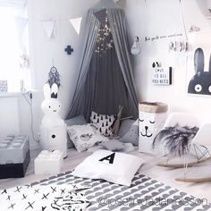 """how magical and inspiring is this place? amazing job by @josefinidadanielsson ♡ #petitepoire #babies #trendy #babyroom #montessori #babyfashion #pretty…"""