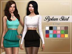 Peplum Skirt at Trillyke • Sims 4 Updates