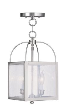 Livex Lighting Milford Brushed Nickel Convertible Chain Hang/Ceiling Mount 4045-91