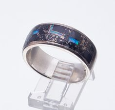 Navajo Inlay Ring Mens Sterling Ring by littlethingsvintage, $78.00... MENS RINGS
