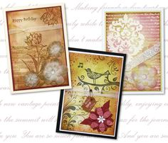 cards made using Kaszazz products.