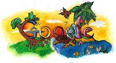 Christin Engelberth of San Antonio Doodle 4 Google, Google Doodles, Pac Man, Images Google, Art Google, Google Icons, Logo Google, Art And Technology, Educational Technology