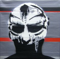 FM Doom - stencil on tape/wood