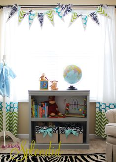 Pennant Valance and Drape Tutorial | Positively Splendid {Crafts, Sewing, Recipes and Home Decor}