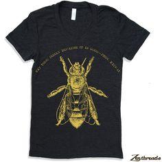 T-shirt Womens manger miel américain vêtements S M L par ZenThreads