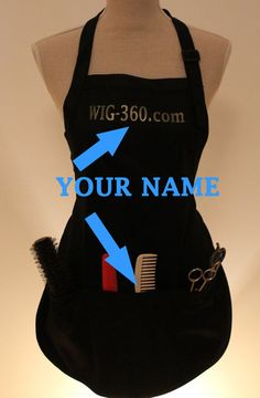 Personalized hairdresser apron with three pockets by AlliedDeZign, $14.00