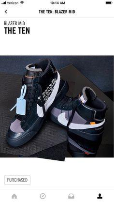 purchase cheap 96c76 f4073 Nike X Off White Blazer The 10 Blazer Grim Reaper Size 14 fashion
