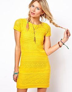 Imagen 1 de Vestido de corte recto de croché de ASOS Premium