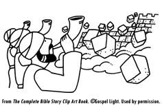 Explanation of Fall of Jericho story for kids, Q+A, suggested activities, etc - Mission Bible Class - Resources for sharing God's Word with children