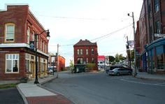 Bank Square in Eastport, Maine.