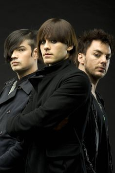Tomo Milicevic, Jared Leto and Shannon Leto of 30 Seconds To Mars on Feb. 5 2008, in London.