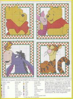 lo spazio di lilla: Winnie the Pooh e i suoi amici, schemi a punto croce / Winnie the Pooh and his friends, cross stitch patterns