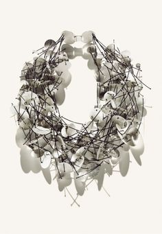 "MAJORAL ""Pluja"" sterling silver seven-row necklace.  @Esther Majoral   #jewellry #necklance"