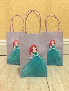Little Mermaid Favor Bags-Ariel Goody bags-Little Mermaid party