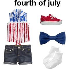 """baby fashion"" by linzielou02 on Polyvore this is such a cute fourth of july outfit for babies"