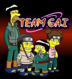 Naruto Simpsons - Team Gai by lloydvdw on DeviantArt