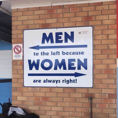 Men to the left women to the right