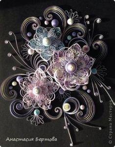 Картина панно рисунок Квиллинг Зимняя Бумажные полосы фото 10 by gypsiejenn