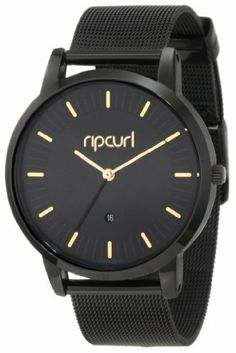 Rip Curl Women's A2528G-MID Analog with Stainless Steel Mesh Band Watch Rip Curl. Save 1 Off!. $148.50. 316l stainless steel case; Midnight ion plated; Water-resistant to 100 M (330 feet); Quartz movement; Stainless steel mesh strap.