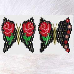 Beaded Bracelet Patterns, Peyote Patterns, Beading Patterns, Stitch Patterns, Beadwork Designs, Purple Butterfly, Pretty Patterns, Brick Stitch, Digital Pattern