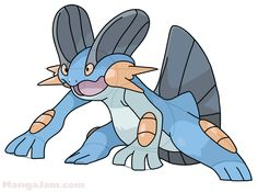 Let's learn how to draw Swampert from Pokemon today! Swampert (Japanese: ????? Laglarge) is a dual-type Water/Ground Pokémon. It evolves from Marshtomp starting at level 36. It is the final form of Mudkip. It can Mega Evolve into Mega Swampert ...