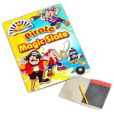 6 x PIRATE MAGIC SLATE ~ Party Bag Filler Party Supplies