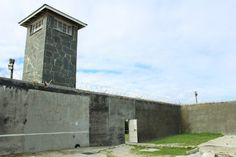 One of the watch towers at the Robben Island Prison